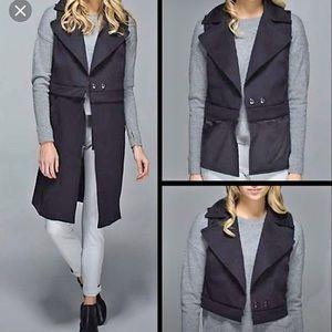 New! Lululemon Quick Change vest sz 6 black top